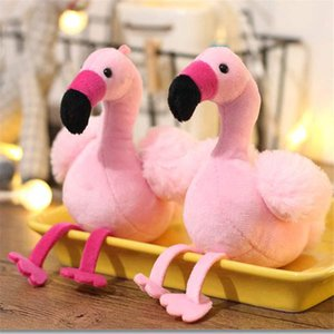 Charms Fluffy Flamingo Portachiavi Pompon donna Fur Bag Portachiavi Pom auto Portachiavi Ciondolo supporto dei monili di Natale