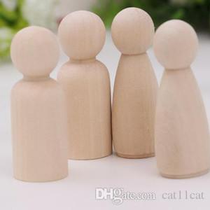 """الفتيات PEG Dolls 2.4 """"الصلبة الصلبة الطبيعية غير المكتملة الانقسام الجاهزة للطلاء أو النشط الخشبية"""