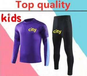 2020 Manchester Kun Agüero Kids Training traje 19 20 Dzeko Kompany Toure Yaya de Bryne Fuootball Traje de entrenamiento
