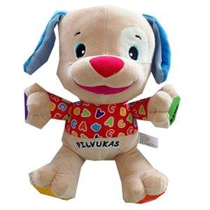 Litauisch sprechenden Hundespielzeug Singing Puppe in Litauen Sprache Plüsch Musik-Spielzeug für Baby Infant Stuffed Educational Y200111