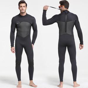 스쿠바 다이빙 파도타기를 하는 가득 차있는 잠수복 낙하산 강하복 잠수복 내오프렌 잠수복 남자를 위한 SBART 남자 5mm 검정/회색 잠수복