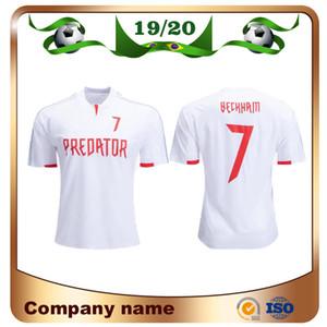 2019 David Beckham Edición limitada Jersey de fútbol 19/20 EA Sports # 7 Beckham Shirt White Fútbol Versión especial Uniforme de fútbol Tamaño S-2XL