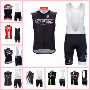 Felt Team Cycling senza maniche jersey gilet Bib Shorts Set estate Bike traspirante Quick -Dry Sportswear X71933