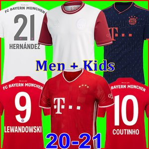 Bayern Munich Jersey de fútbol soccer jersey football shirt 2021 2020 LEWANDOWSKI MULLER KIMMICH 21 20 HUMMELS Camiseta chandal de fútbol 120 aniversario 120 años