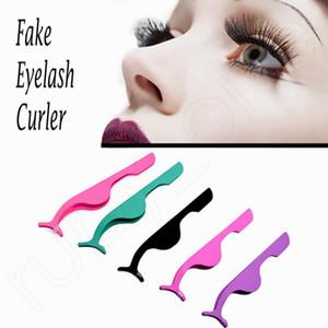 Acier inoxydable Faux cil curleur Faux Cils Brucelles Cils Applicateur Remover cosmétiques Maquillage Clip Outils HHAa215