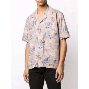 Camicia 20ss New British Style Asuka stampato a maniche corte High Street Uomini Moda e donne comode T-shirt estiva HFXHTX264