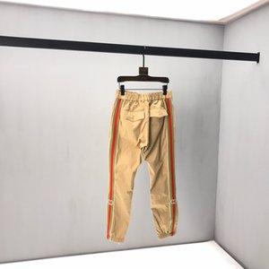 Gucci casual pants Stereo nuovi uomini di pantaloni Early Autumn comune Nome Ins vento ricamo in bianco e nero Cuciture cerniera chiusa velluto pantaloni casual xshfbcl Kz