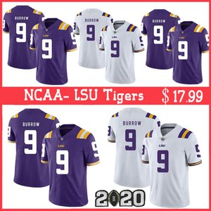 NCAA LSU Tigers Jersey 9 Joe Burrow 2020 New 3 Odell Beckham Jr. 20 Billy Cannon 7 Grant Delpit Football Jerseys
