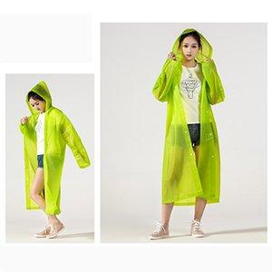 EVA Adulto Raincoat portátil ao ar livre Viagem Rainwear Unisex Thicken impermeável respirável Camping capuz Ponchos chuva cobrir Suit