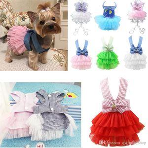 Fashion Pet Dog Clothes Dress Sweety Princess Dress Small Medium Dogs Pet Accessories Teddy Puppy Wedding Dresses XS-XXL