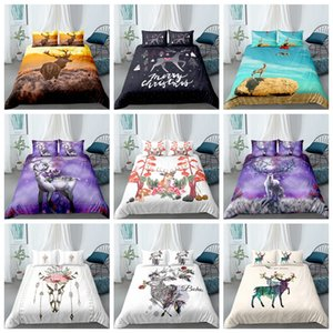 Thumbedding Deer Bedding Set Fashionable Creative Fresh Twin Full Queen King Single Double Duvet Cover Set with Pillowcase