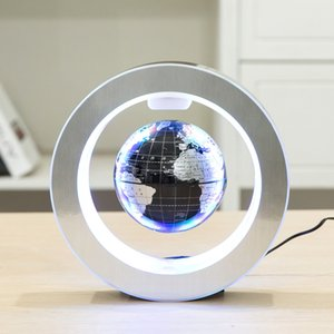 Mapa del mundo de la novedad LED ronda globo flotante de la levitación magnética Antigravity mágica novela de luz de lámpara de cumpleaños diciembre casero noche de la lámpara