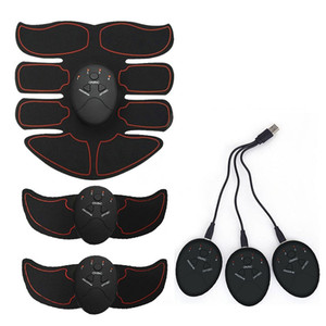 Vente en gros-rechargeable sans fil Muscle Stimulator intelligent Fitness Trainer Muscle abdominal bras exerciseur corps Massage Minceur