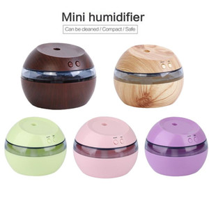 Wholesale 300ml USB ultrasonic humidifier aromatherapy machine aromatherapy oil sprayer with blue LED light