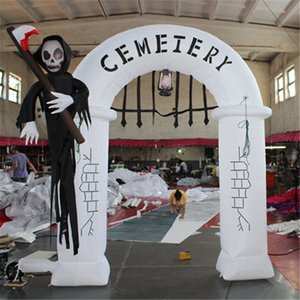 3m Halloween Demônio Arch inflado Arch Morte Iluminação inflável arco appration entrada para o clube do partido do dia das bruxas