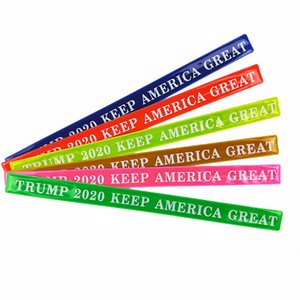 2020 Estados Unidos Donald Trump Wristband Keep Ameriaca Great Bracelets Traffic Click Circle For Party Souvenirs 1 4ye
