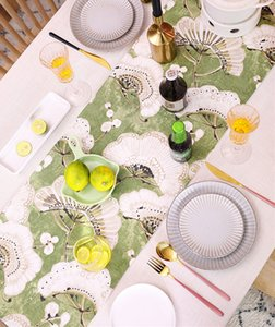 Beautiful Pattern Table Runner Cotton Table Flag Hotel Home Festival Party Decoration
