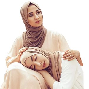 60 * 170cm femmes musulmanes en coton doux modal écharpe hijab foulard jersey hijab femme islamic headwrap arabe musulman vêtements turban