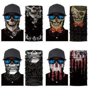 FHnT7 Fitness Bandanas Multifunctional Outdoor Cycling Women Magic Sunscreen Turban Hair Band Riding Mask Cap For Men Skull Scarf Cycling#138