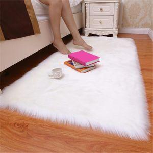 Salon Yatak Odası Yeni 1pc Yapay Yün Halı Shaggy Kabarık Kilimler