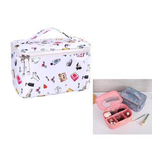 Alta qualidade de viagem Cosmetic saco de viagem conveniente Hand-held Maquiagem Wash Bag de grande capacidade à prova d'água de armazenamento Cosmetic Bag 2019
