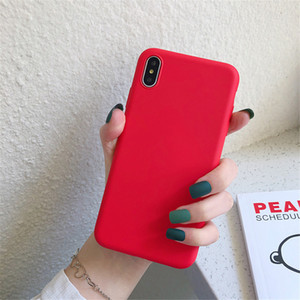 Red Soft Case telefone para o iPhone 11 Pro XS MAX XR XS 7P 8P Iphone7 8 Iphone 6 6SP 6 6s para Samsung