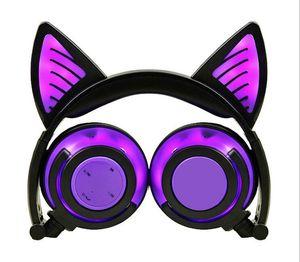Уши милый кот зарево в целом, перезаряжаемые беспроводные Bluetooth, мобильного телефона и компьютера гарнитура складной