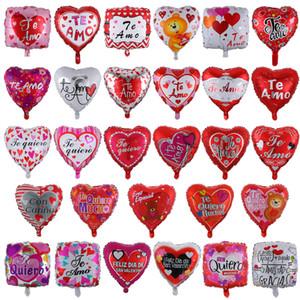 18 дня дюймового надувного Валентина группы Баллоны украшения пузырь алюминиевый фильм воздушный шар Я люблю тебя Сердце воздушных шаров игрушки поставка C2312