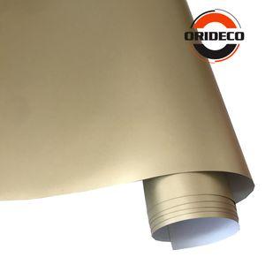 50cm * 100 / 150 / 200 / 300 / 500cm 새틴 샴페인 골드 비닐 매트 금속 빛 골드 비닐 랩 자동차 포장 필름 자동차 필름 장식