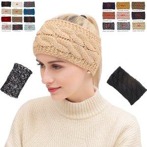 Örme Kafa 20 Renk Kış Isıtıcı Başkanı Wrap Hairband Akrilik Tığ Moda Saç Bandı Beanie Aksesuarları OOA7144