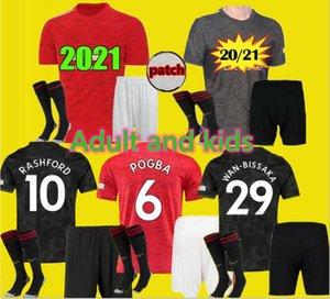 Yetişkin ve çocuklar Sürüm RASHFORD Pogba FERNANDES 20 21 manchester futbol birleşik jersey 2021 2020 Utd futbol takımı forması erkekler çocuk setleri üniforma
