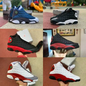 2020 Nike Air Jordan 13 Shoes Air max michael jordans retro  maschile Nero Bianco Rosso Casual Shoes Bag Zipper Parti Zipper z0032