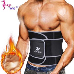 SEXYWG Erkekler Bel Trainer İnce Vücut Şekillendirici Spor Popüler Bel Cinchers Neopren Sauna Kayış Korse Zayıflama Shapewear Kuşak Destekler