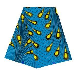 100% cotone stampa il tessuto della cera 6 yarde bellissimo disegno del tessuto della cera tessuto africano Ankara hollandais per il vestito fai da te WB-26