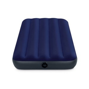 Original Delivery Intex Striped Flocking Single Inflatable Mattress 1 Person Air Cushion Bed Tent Camping Mat 64756
