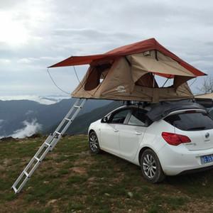 자동차 용량 두 사람이 하나의 문을위한 야외 캠핑 CarTent 여행 지붕 텐트 소프트 톱 텐트