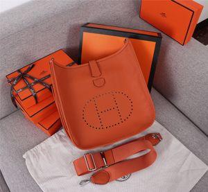 Wholesale top designer handbags men's handbags women's toe cover cowhide net red ins same hollow H-shaped buckle UN