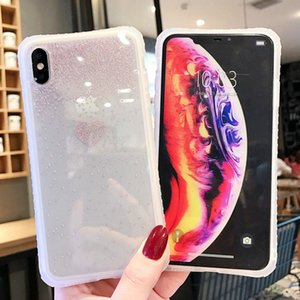 Glitter Transparent Cute Love Heart Pattern Phone Case For iPhone X XS XR XS Max 6 6S 7 8 Plus For iPhone 11 2019 11 Pro Max XR
