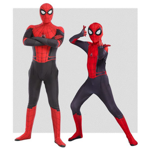 Hot New Movie Spider Man Far From Home Tights Cosplay Costumes Adult Children Jumpsuits Halloween Party Clothing Marvel Gift SH190908