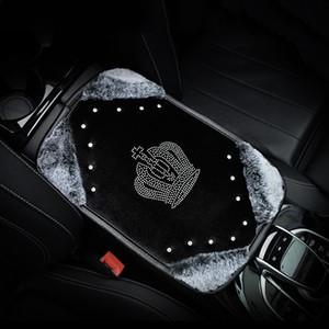 Crown Plush Car braço Pad Cover for braços Center Console Car Braço Almofada Universal Size Box Covers Mulheres