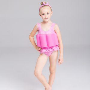 Floating Swimming Suit with Buoyancy Sticks Detachable Girls Floating Training Bathing Suit Swimsuit Infant Swimwear