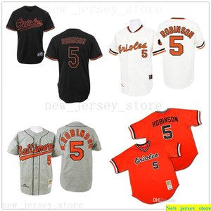 gris rétro blanc orange noir 1970 Throw Baseball 5 Brooks Robinson Authentic Jersey femmes Hommes enfants # 5 Mitchell et Ness Soyez Orioles