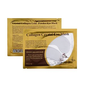 Vendita calda Golden White Eye Mask Donne Crystal Palpebra Patch / Crystal Eye Mask Collagen Gold Mask Dark Circle nave libera
