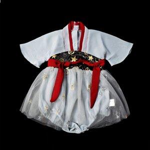 Gonna per ragazze Hanfu con gonna Tang sottile stile cinese Confezione da 0-3 anni Costume da bambino per bambini Vestito da festa per bambini su misura