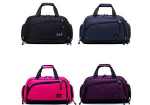 DHL30pcs вещевой мешок женщины нейлон твердые Барральные формы смещения ленты молния короткие одиночные дорожная сумка 7 цветов