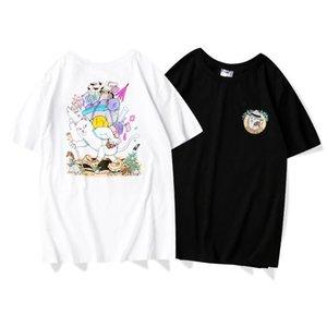 2020 nuevo hombre del diseñador de lujo camiseta de algodón de alta calidad RIPDI supervivencia mochila gato salvaje dedo medio la impresión mujeres de los hombres camisa de polo sudor