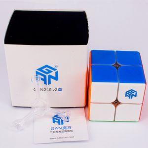 GAN249 V2 M Magnetic mágica 2x2x2 cubo GAN 249 V2M cubo mágico 2x2 velocidade Magnetic cubo GANS cubo magico Y200428