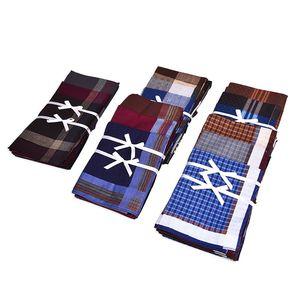 Fort Hope 12pcs 40 * 40cm New 100% quadrado do negócio do algodão Lenços Men bolso lenços de Homens Pockets Handkerchief
