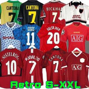 Retro 2002 04 06 Estados de fútbol final jersey de fútbol Giggs SCHOLES Beckham RONALDO 98 99 CANTONA KEANE Solskjaer 1994 07 08 96 Manchester