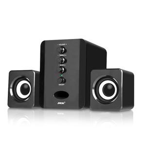 Área de trabalho Combinação Speakers USB Computer Wired Speakers Baixo Stereo Music Player Subwoofer Sound Box para Smart PC Phones D200T
